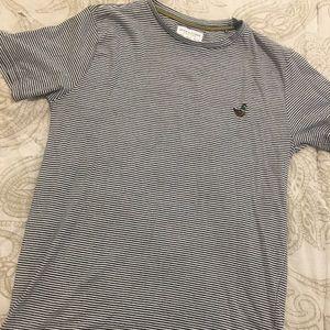 Denim & Flower - short sleeved striped T - size S